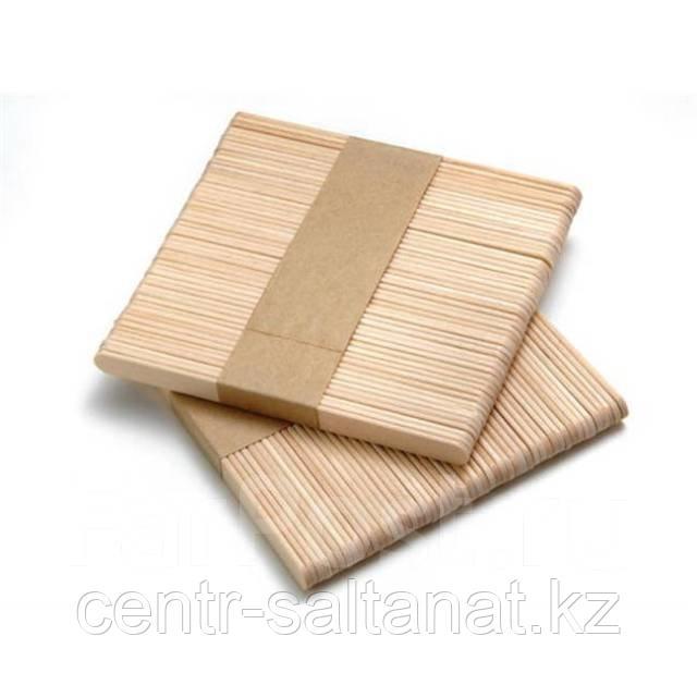 Шпатель для нанесения воска 50 шт деревянные