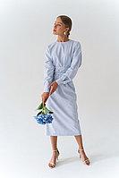 Платье-миди из смесовой вискозы с лентами на поясе TOPTOP STUDIO