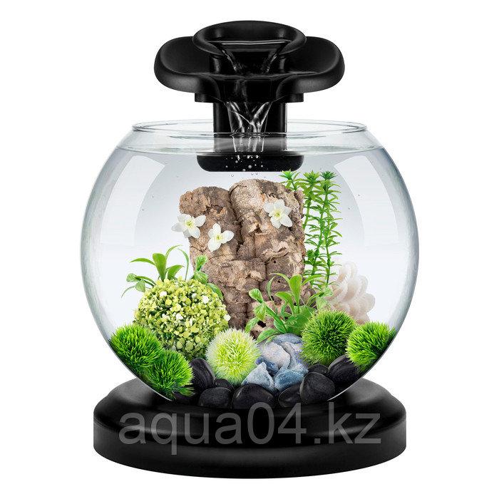 Аквариум Tetra Cascade Globe Duo Waterfall  черный 6,8л круглый с LED светильником