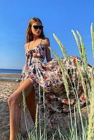 Платье-миди в цветочек с открытой спиной и лифом на завязках TOPTOP STUDIO by Lera Zhuravleva
