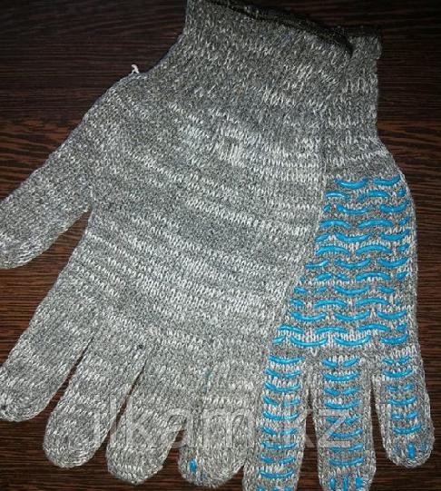 Перчатки х/б с покрытием ПВХ («Волна») 5 нитей