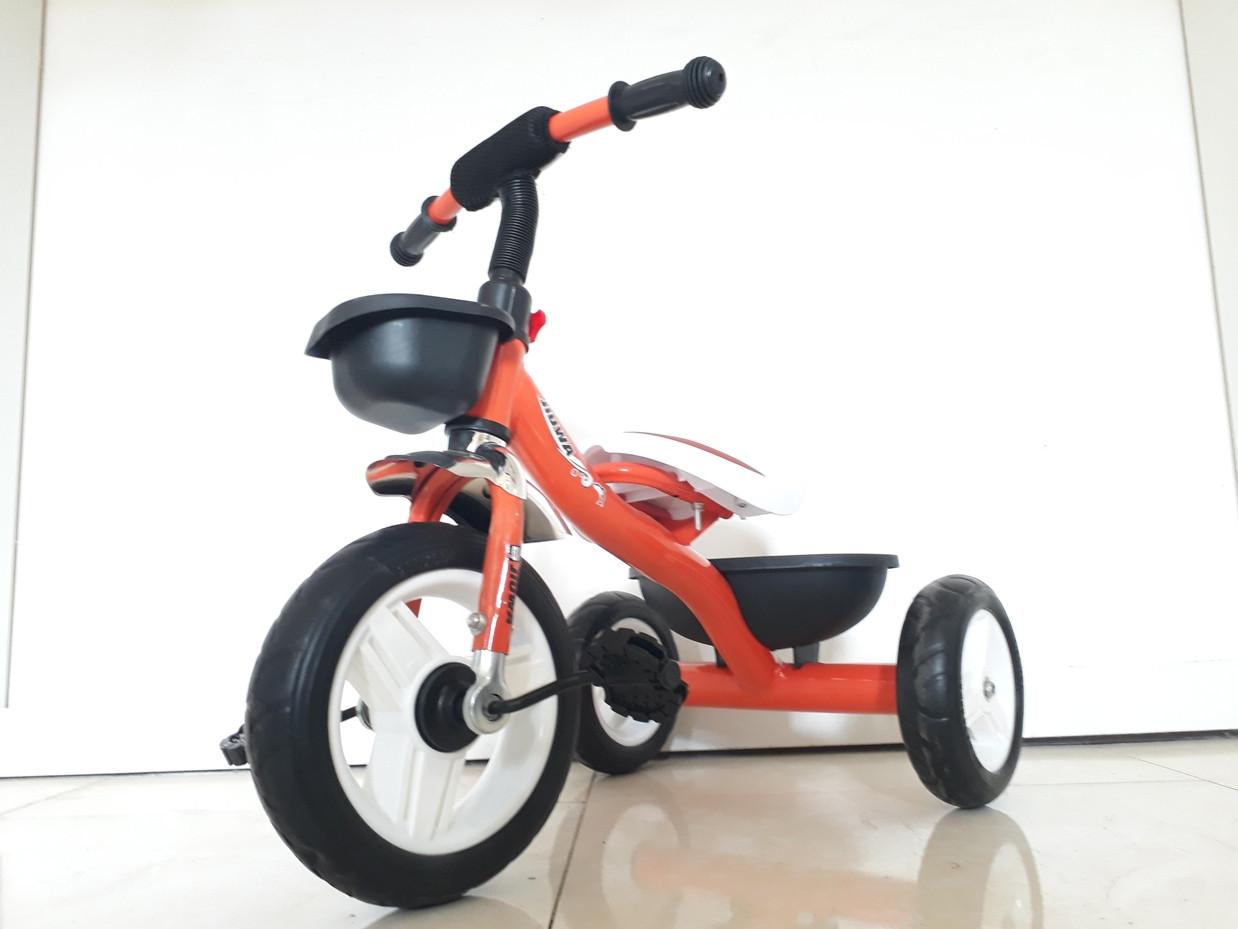 Детский трехколесный велосипед с мягким сидением