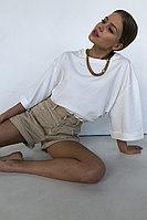 Объемная футболка из хлопка oversize-кроя TOPTOP