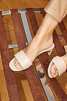 Нюдовые лаконичные мюли на каблуке Lera Nena Unreal