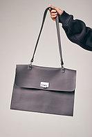 Минималистичная сумка-портфель из гладкой экокожи с ремнем H.I.T.