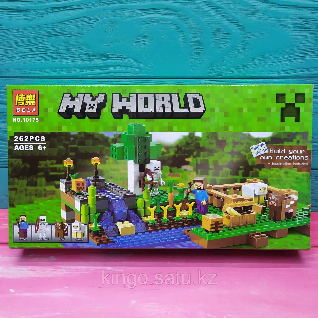 Конструктор Bela Minecraft Ферма 10175 (Аналог Lego Minecraft 21114) 262 детали
