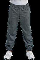 Медицинские мужские брюки Brooklyn черно-белая полоска