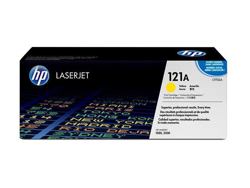 HP C9702A Картридж лазерный HP 121A желтый, ресурс 4000 стр, для Color LaserJet 2500/1500