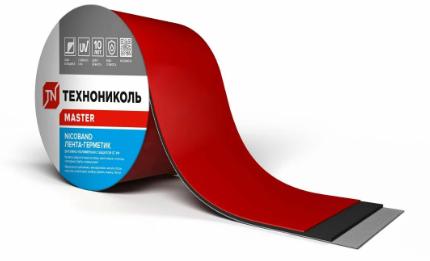 Лента 3 м х 10 см самоклеющаяся Nicoband Красный