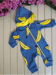 Комбинезон детский с бананами цвет синий
