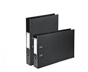 Регистратор A5, 70мм, PVC/Paper, вертикальный, черный Eisear