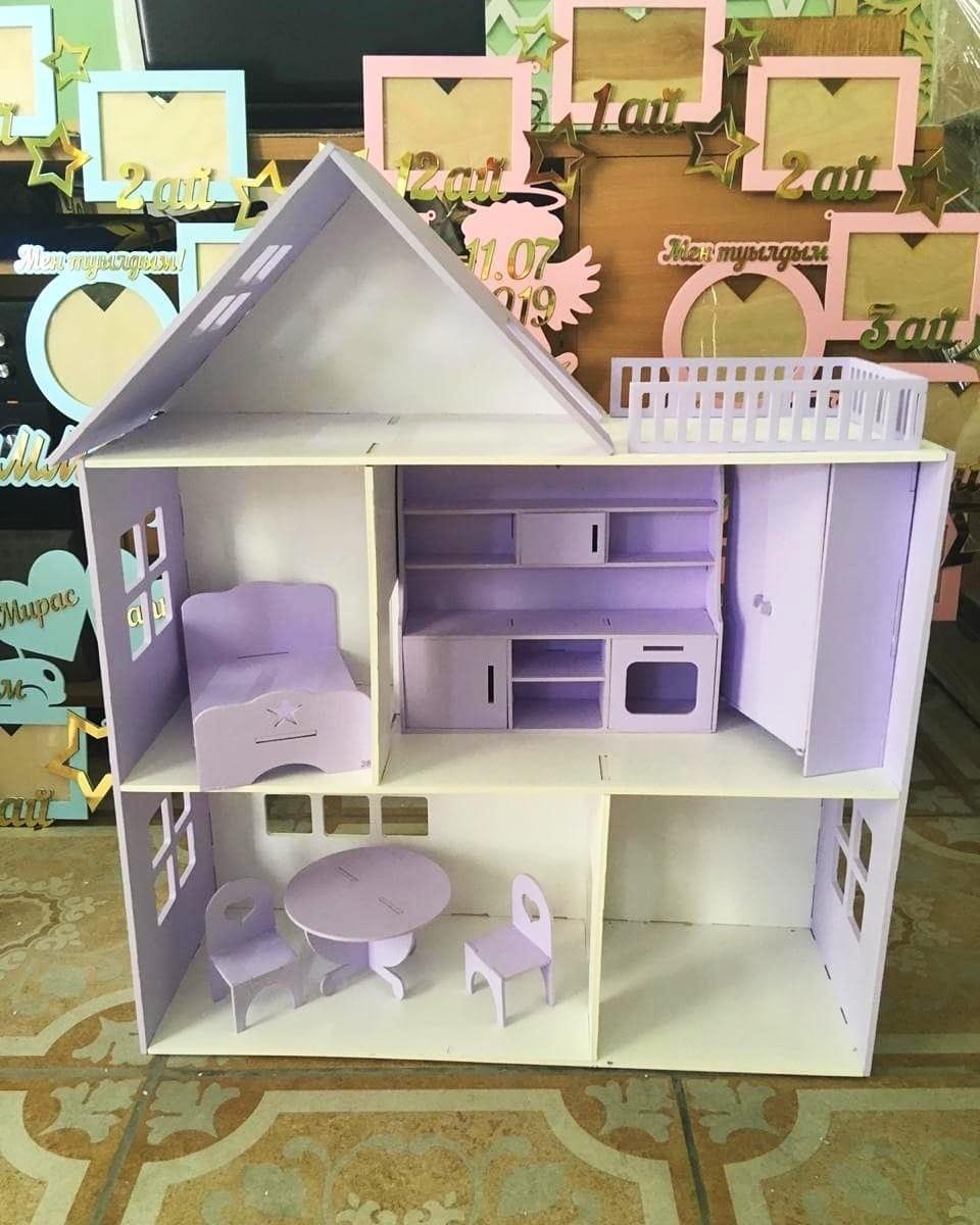 Кукольный домик (в комплекте 6 предметов мебели)