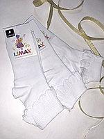 Носки детские белые для девочек LIMAX 28-34 (в упаковке 12 шт)