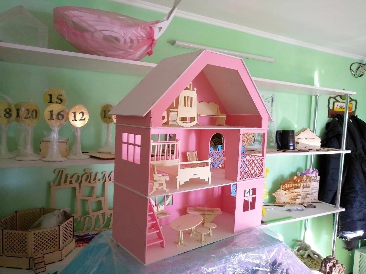 Кукольный домик для маленьких кукол (в комплекте 12 предметов мебели)