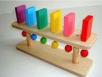 Настольный модуль Разноцветное Домино, Тактильно-развивающая панель (6 домино)