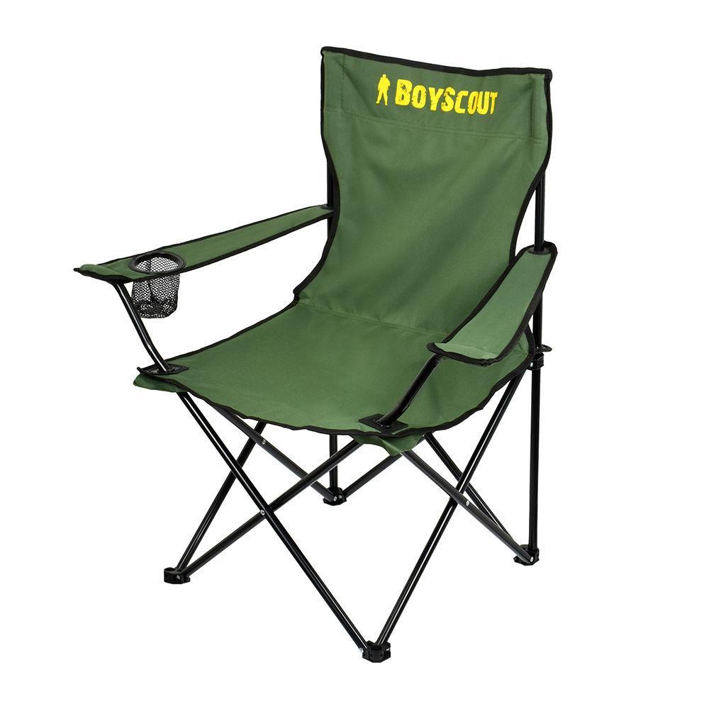 Кресло кемпинговое раскладное с подлокотниками BOYSCOUT (в чехле, 84x53x81 см)