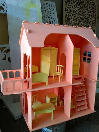 Кукольный домик для маленьких кукол (в комплекте 10 предметов мебели)