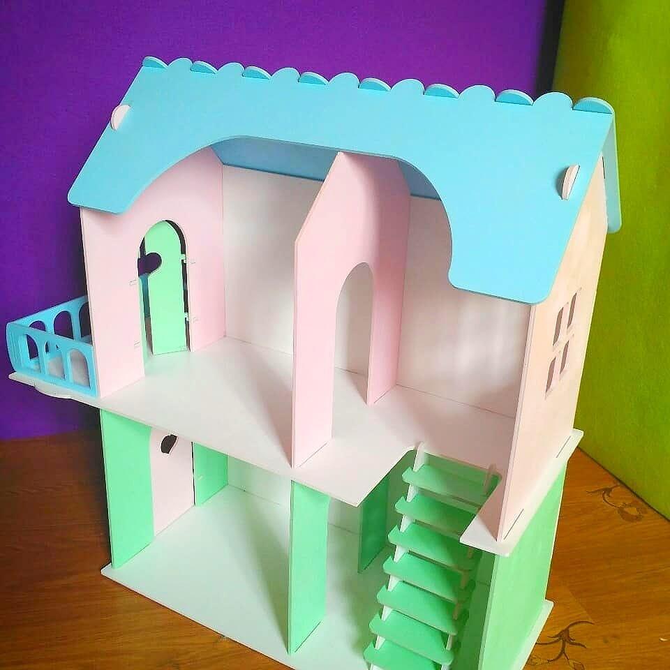 Кукольный домик для маленьких кукол (без мебели)