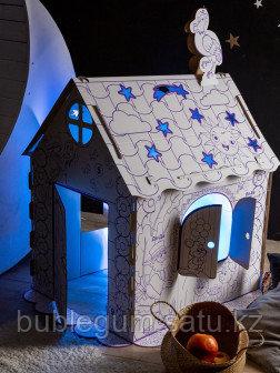 ПМДК Картонный домик раскраска