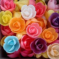 Вафельные цветы для оформления торта!