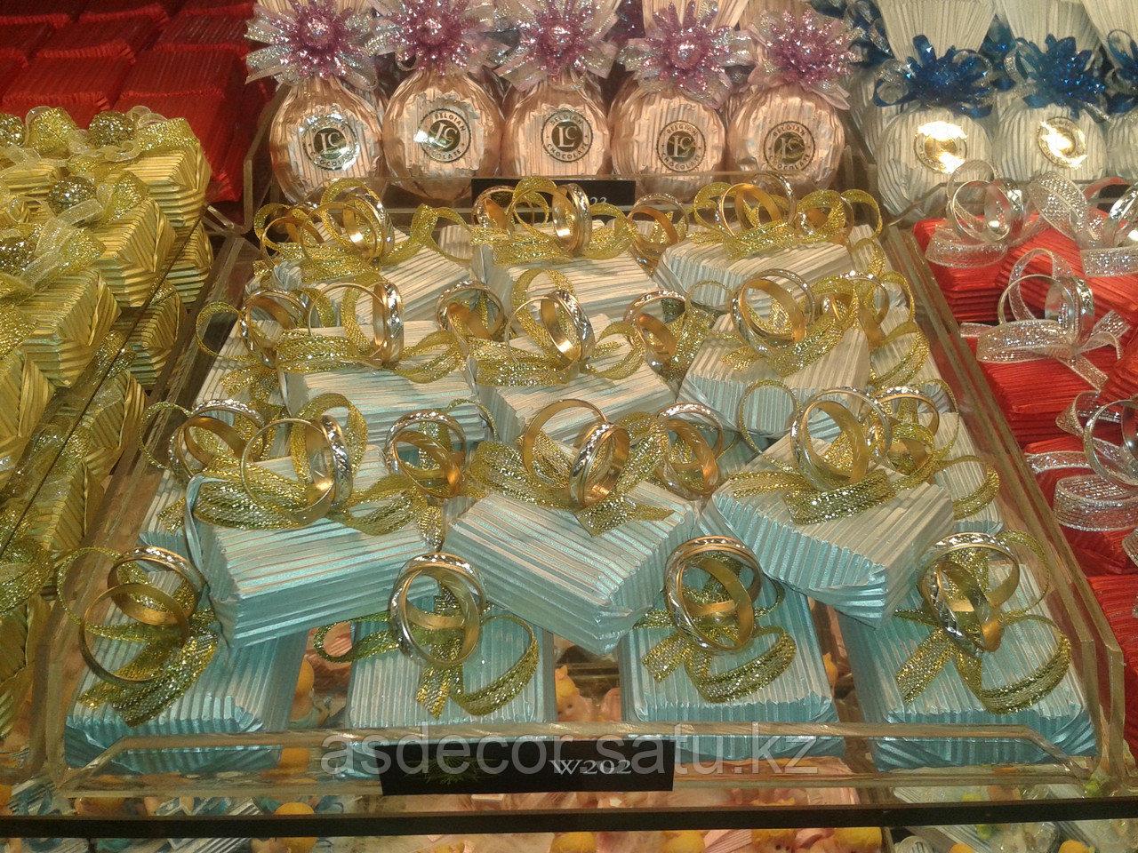 Шоколадные Бонбоньерки на свадьбу с кольцом. - фото 1