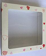 """Коробка для пряников """"Сердечки-пиксели"""""""