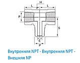 Резьбовой фитинг для труб - GTB разветвитель, фото 2