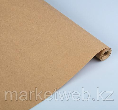 Бумага упаковочная крафт без печати, 70 г/м2, 0,72 х 10 м - фото 1