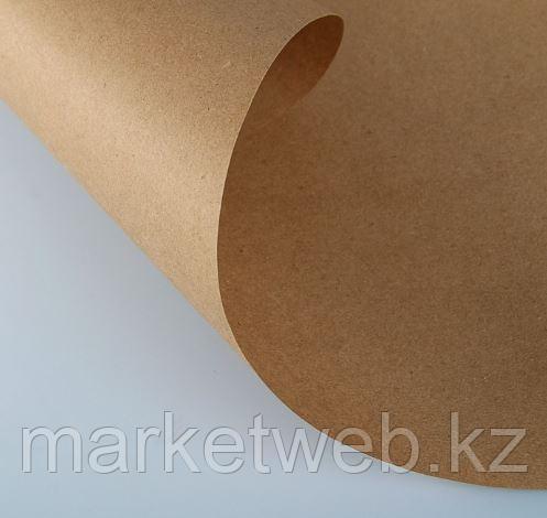 Бумага упаковочная крафт без печати, 70 г/м2, 0,72 х 10 м - фото 2