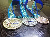 Спортивные медали на ленте