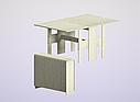 Стол обеденный раскладной белый, фото 2