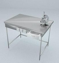 Стол приборный, 1 ящик, блок розеток, ц/м, 900х600х900 мм