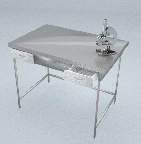 Стол приборный, 2 ящика, ц/м, 1800х600х820 мм
