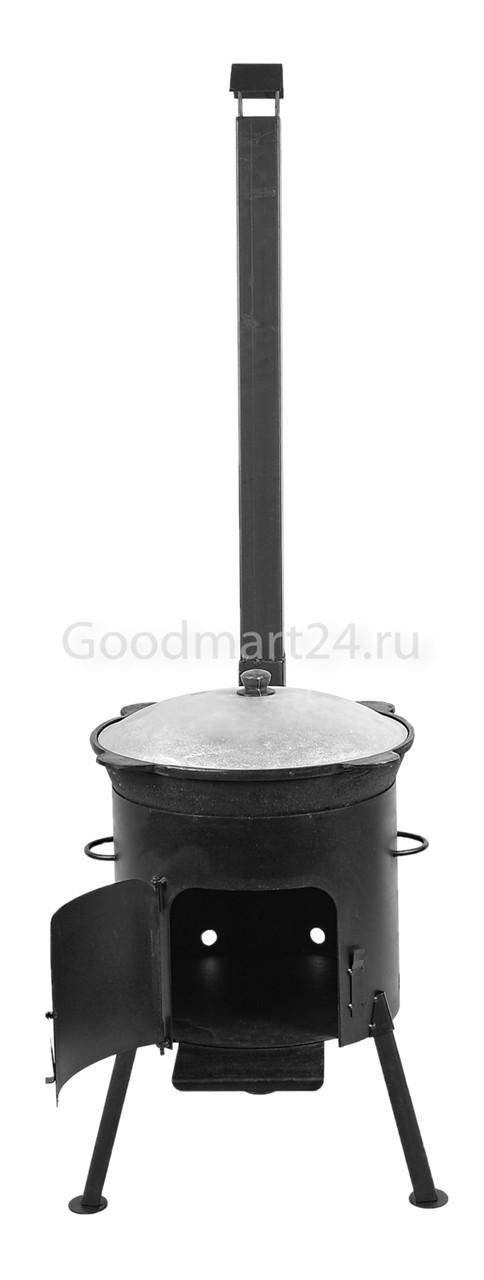 Узбекский чугунный казан 16 л.+ печь с трубой