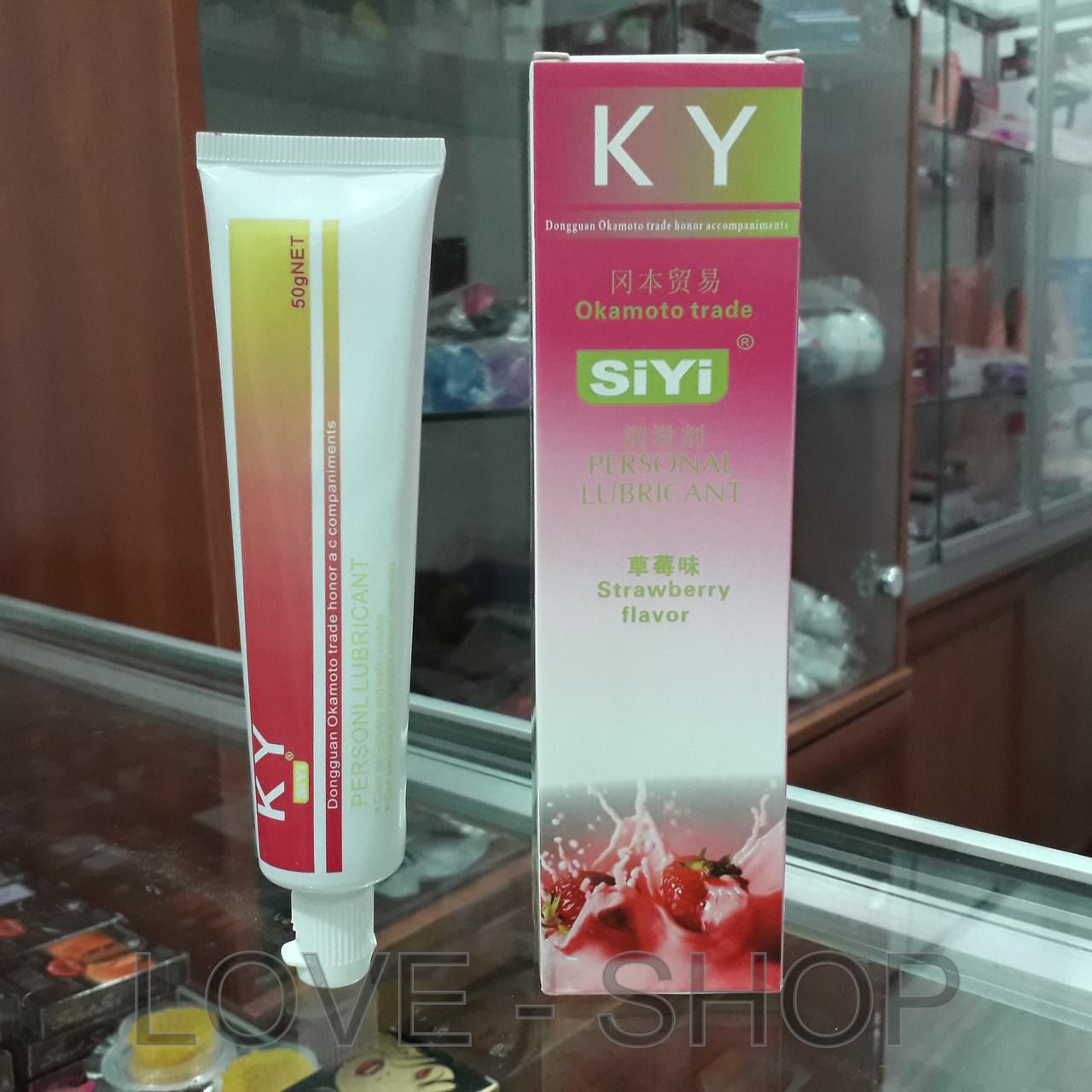 SiYi - Оральная смазка с вкусом клубники (50 ml.)