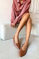 Лаконичные мюли из натуральной кожи с ремешком на пятке Lera Nena