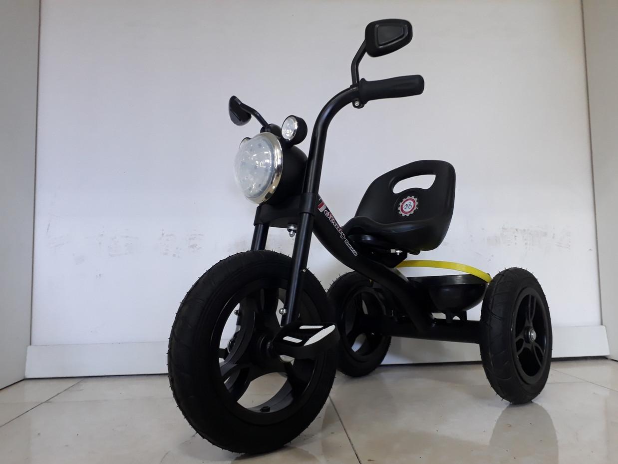 """Детский трехколесный велосипед """"Harley"""" с передней фарой и музыкой"""