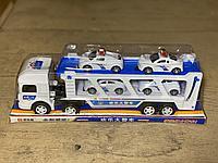 Автовоз с полиц. машинами (6837)