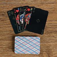 """Карты игральные """"Классические"""", черные, 36л 7.5х5 см, 230 гр/м2, 36 шт."""