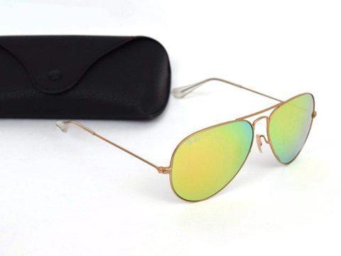 Очки солнцезащитные Aviator Ray-Ban (Золотистая оправа / линзы хамелеон)