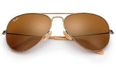 Очки солнцезащитные Aviator Ray-Ban (Золотистая оправа/серо-зеленые линзы), фото 3