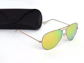 Очки солнцезащитные Aviator Ray-Ban (Серебристая оправа/Темно-синие зеркальные линзы), фото 3
