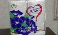 Полотенца бумажные рулонные «Фиалка» 2 рулона