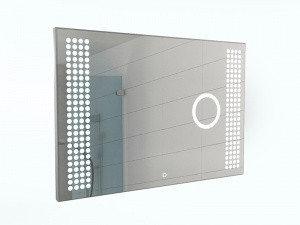 Зеркало Cosmo 100 alum (линза) с подсветкой Sansa, фото 2
