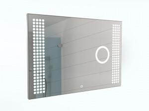 Зеркало Cosmo 100 alum (линза) с подсветкой Sansa