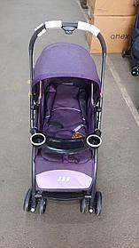 Прогулочная коляска (серый,фиолетовый)