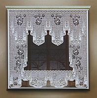 Штора 170х160 см, белый, без шторной ленты
