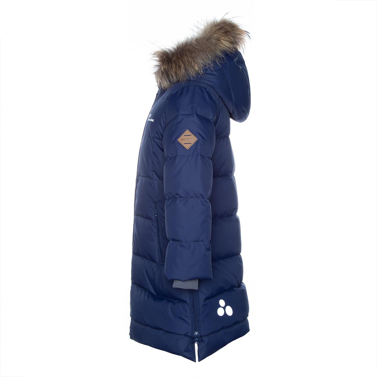 Пальто для девочек Huppa PARISH, тёмно-синий - фото 4