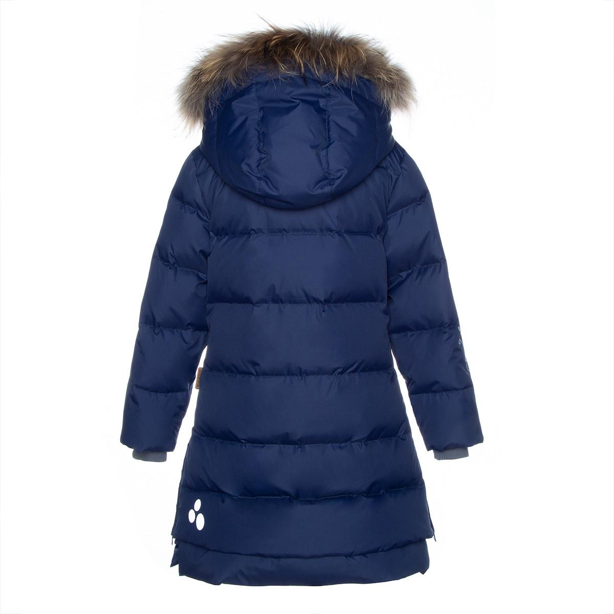 Пальто для девочек Huppa PARISH, тёмно-синий - фото 2