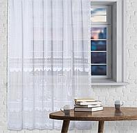 Штора кухонная 163х170 см, белый, без шторной ленты